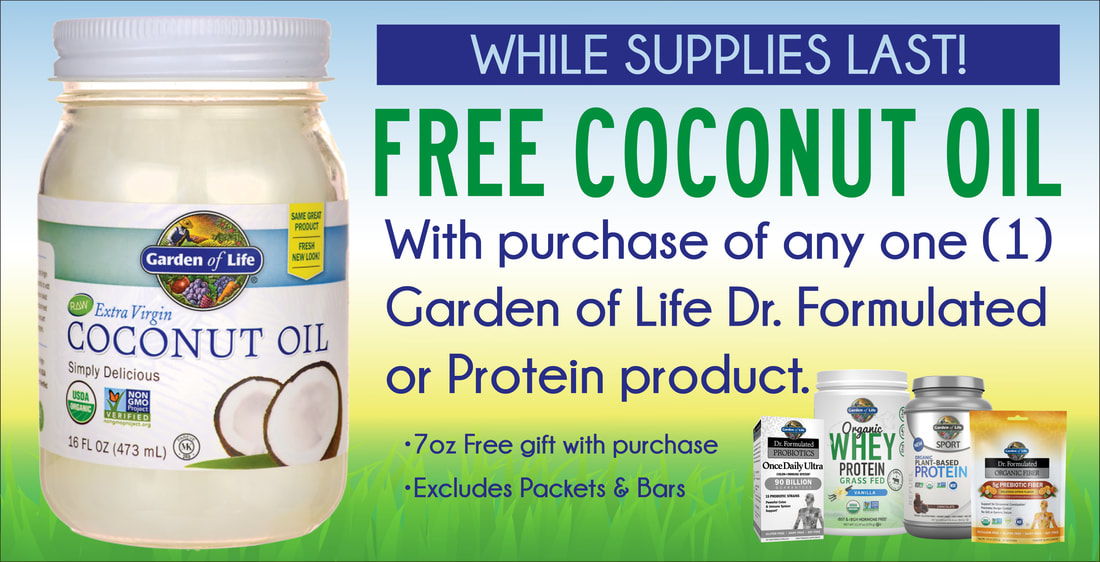 Free Garden Of Life Coconut Oil!